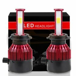 2600w H7 390000lm Pure White Led Hi/low Beam -cree Chip Bulbs 6000k Hid Us Stock