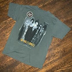 Vintage Late 90s Giant The Wallflowers Band T Shirt Sz Xl Green