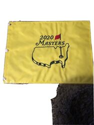 2020 The Masters Golf Tournament Augusta National Pin Flag Tiger Woods Played