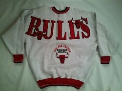 Vintage Legends Athletic 1996 Chicago Bulls Nba Champs Sweatshirt In Size L
