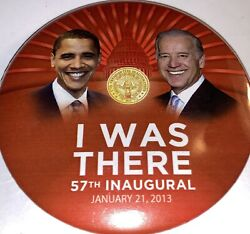 2008 Barack Obama And Biden I Was There 57th Inauguration 3 Button Pin Pinback