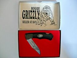 Vintage Rigid Knife Rg-48 Rogue Grizzly Killer At Bay