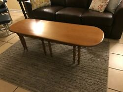 Vintage Mid Century Coffee Table Wood 2 Pull Out/off Trays Tables Furniture