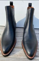 Coach Bowery Chelsea Women's Pointy Toe Black Ankle Boots Size 5.5m