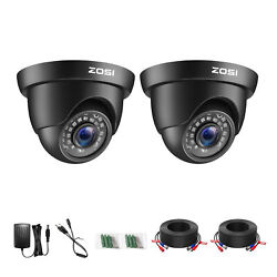 Zosi 2pk 1080p Tvi Security Dome Camera Outdoor Indoor Day Night For Cctv System
