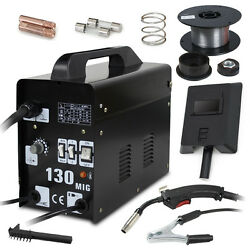 Mig 130 Welder Flux Core Wire Automatic Feed Welding Machine And Face Mask