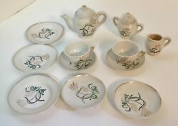 Vintage Toy Childs Doll Tea Set Made In Japan Play Kitchen Nursery