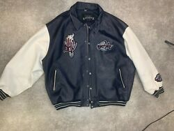 Avirex Leather Menand039s 6xl Varsity Jacket Limited Edition City Series 75 New York