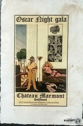Chateau Marmont Playboy 22and039x 15and039x Artist Proof Print Signed Fairchild Paris