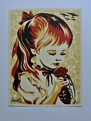 War By Numbers Gold Signed/numbered Screen Print Obey Shepard Fairey