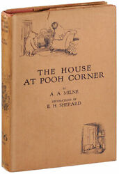 A.a. Milne And E.h. Shepard-the House At Pooh Corner-1928-1st/1st Ed-fine/vg+ Dj