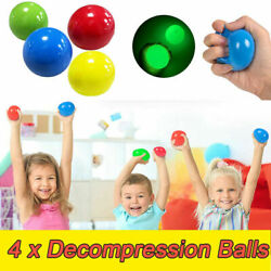 4Pcs Sticky Balls Wall for Ceiling Stress Relief Globbles Stress Kids Toys US