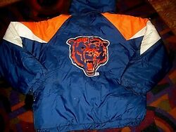 Chicago Bears Nfl Football Hooded Puffer Jacket Coat - Men's L- F.a.t. Goose