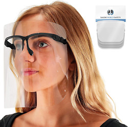 Tcp Global Salon World Safety Face Shields With Black Glasses Frames Pack Of 4