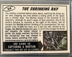 Mars Attacks 1994 1/1 Rarity White Back Card Unique Topps Pack Pulled