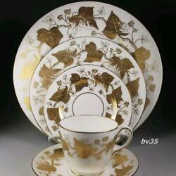 Wedgwood Golden Ivy Porcelain Cup Saucer Plate Tableware Ornament Interior Rare