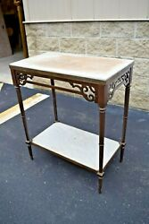 Nice Older Antique Credence Table, Offertory Table Cu500 Chalice Co.