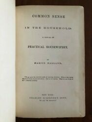 Rare 1871 Common Sense In The Household Marion Harland Cooking And Homemaking