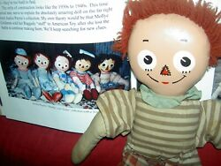 Rare 1930s, American Toy And Novelty, Raggedy Andy Cloth Buddy Doll, No Pants, Hat