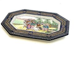 """Vintage Large Amazing Plater French Faience Hb Quimper Circa 1920s' 21.5"""" Si"""