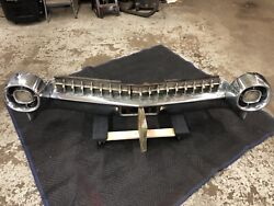 1959 Cadillac Convertible Rear Bumper. Complete With Grill Lights Brackets.