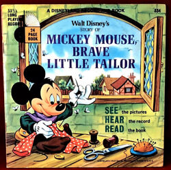 Disneyland Record And Book Walt Disneys Story Of Mickey Mouse Brave Little Tailor