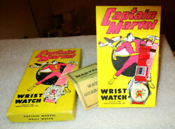 Captain Marvel Watch 1948 Fawcett Pub. Inc.  Brand New  Box, Price And Book