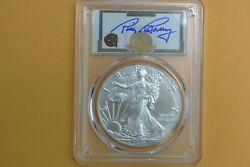 2019 American Silver Eagle 1oz Dollar Pcgs Ms70 First Strike Rick Barry Spotted