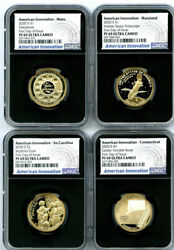 2020 S 1 Sc Ct Ma Md Ngc Pf69 Uc American Innovation First Day Issue 4-coin Set