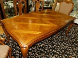 Thomasville British Gentry Burl Dining Table Only Free White Glove S/h Most Usa