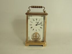 Vintage Schatz 8 Day No. 59 Brass Carriage Clock Made In Germany