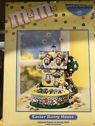 Mandmand039s Easter Bunny House Holiday Lighted House And Candy Dish 2004 Dept 56 Nib