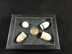 Civil War Infantry Officers Eagle Button And Bullets From Cedar Creek Virginia