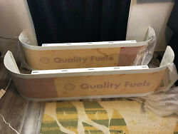 2 - Left And Right Shell Quality Fuels Gas Pump Metal Vanity Topper Signs Unused