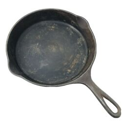 Vintage Griswold 754 No.7 Cast Iron Skillet With Heat Ring Sits Flat Made In Usa