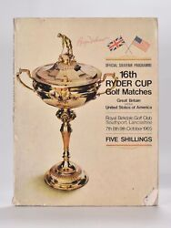 P G A. / Ryder Cup 1965 Official Programme Fully Signed By All Competitor's