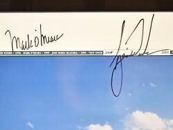 Masters 2001 Poster Signed Woods And Oand039meara