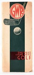 Great Western Railway Company / Golf Courses Served By The G.w.r 1933