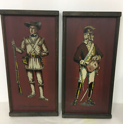 Vtg Yorkraft Inc. Wooden Picture Of Confederate Soldier, Civil War Military