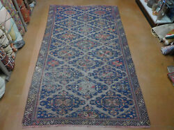 Antique Caucasian Soumak Rug Lovely Flat Woven Carpet 7and0395and039and039 X 13and039 Ca.1930s