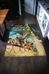 A Night To Remember 4x6 Ft Vintage French Grande Movie Poster Original 1958 Used