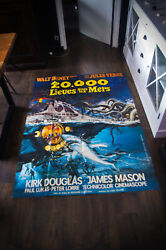 20000 Leagues Under The Sea A 4x6 Ft French Movie Poster Rerelease 1976 Used