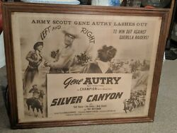 Vintage Silver Canyon Half Sheet Poster Gene Autry Western Musical