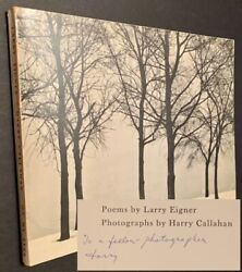 Larry Eigner / On My Eyes Inscribed By Harry Callahan Signed 1st Edition 1960