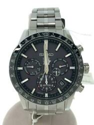 Seiko Astron 5x53-0ab0 Day Date Black Gps Solar Mens Watch Authentic Working