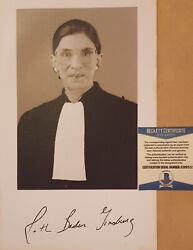 Ruth Bader Ginsburg Signed Autographed 6x9 Photo Supreme Court 2 Beckett Coa