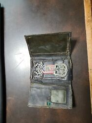 O. Of I.a. Masonic Badge And Wallet Industrial Council 487 13 Star Flag Sterling