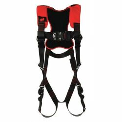 3m Protecta 1161406 Full Body Harness, Vest Style, Xl, Polyester, Black