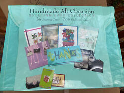 Paper Magic Box Of 34 Handmade Assorted All Occasion Embellished Greeting Cards