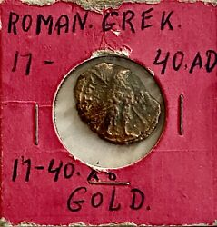 Look___rare 17-40 Ad Gold Roman Coin See Other Coins Gold Silver And Jewelry